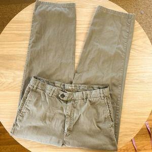 Ermenegildo Zegna Chino Khaki Straight Pants
